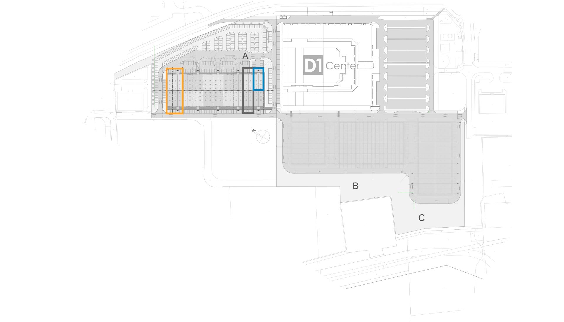 Mapa centra D1 Park Busine